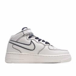 Nike Air Force 1 Mid Beige Black AT1118-011 Sneakers