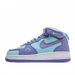 Nike Air Force 1 Mid Blue Ltblue White CV3039-107 Sneakers