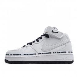 Nike Air Force 1 Mid Diy White Black BC2306-460 Sneakers
