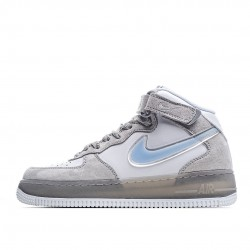 Nike Air Force 1 Mid Grey Blue White BC9925-102 Sneakers