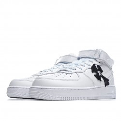 Nike Air Force 1 Mid White Black 315123-111 DIY Sneakers