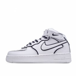 Nike Air Force 1 Mid White Black 3M 368732-810 Sneakers