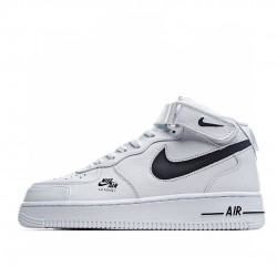 Nike Air Force 1 Mid White Black CV3039-108 Sneakers