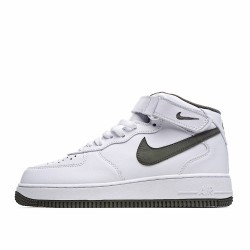 Nike Air Force 1 Mid White Green AA1116-999 Sneakers