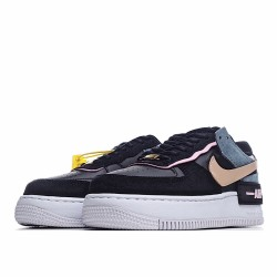 Nike Air Force 1 Shadow Black Light Arctic Pink Claystone Red CU5315-001 Sneakers