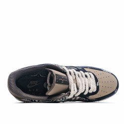 Nike Air Force 1 x Travis Scott TS Blue Brown AA1117 508 Sneakers