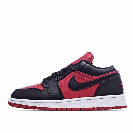 Nike Air Jordan 1 Low Black Red 553560-610 Sneakers