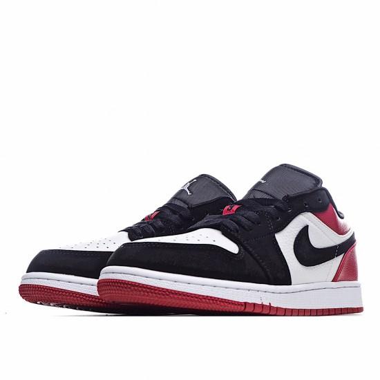 Nike Air Jordan 1 Low Black Toe 553560-116 Sneakers