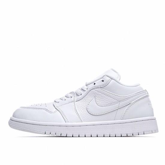 Nike Air Jordan 1 Low Triple White 2019 553558-111 Sneakers