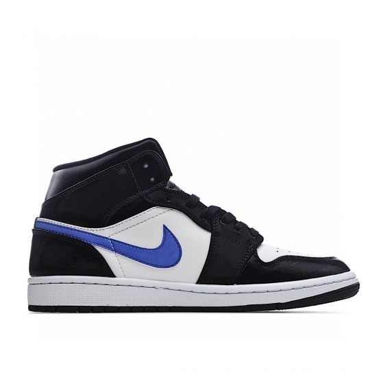 Air Jordan 1 Mid Black White Blue 554724-084 AJ1 Jordan Sneakers