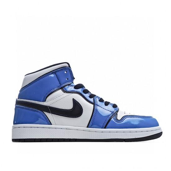 Air Jordan 1 Mid Blue White Black DD6834-402 AJ1 Jordan Sneakers