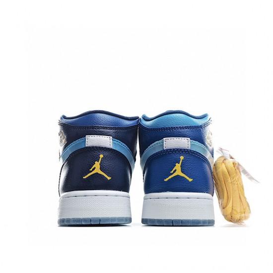 Air Jordan 1 Mid Fly Blue BV7446-400 AJ1 Jordan Sneakers