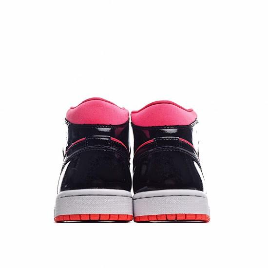 Air Jordan 1 Mid Hot Punch Black BQ6472-600 AJ1 Jordan Sneakers