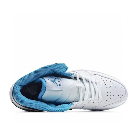 Air Jordan 1 Mid Laser Blue 554724-141 AJ1 Jordan Sneakers