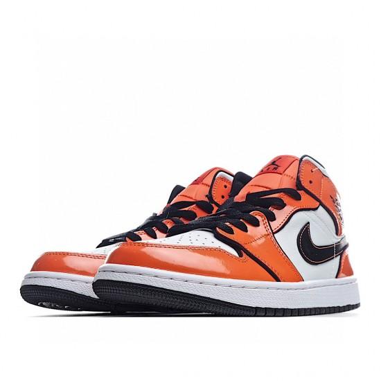 Air Jordan 1 Mid Orange White DD6834-802 AJ1 Jordan Sneakers