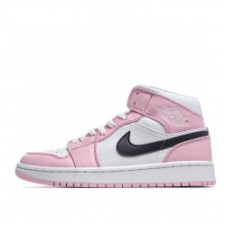 Air Jordan 1 Mid Pink White Black BQ6472-500 AJ1 Jordan Sneakers