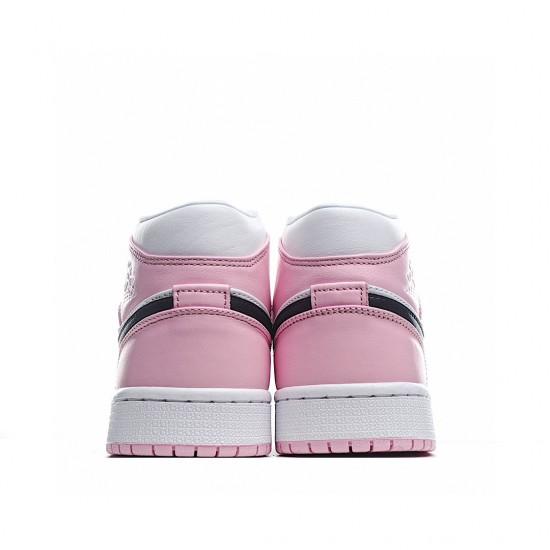 Air Jordan 1 Mid Pink White Black BQ6472-500 AJ1 Jordan Sneakers
