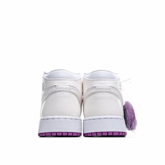 Air Jordan 1 Mid Purple White 555112-ID AJ1 Jordan Sneakers