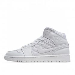 Air Jordan 1 Mid Quilted White DB6078-100 AJ1 Jordan Sneakers
