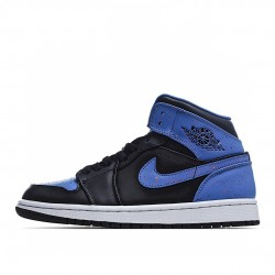 Air Jordan 1 Mid Royal Paint Splatter 554724-048 AJ1 Jordan Sneakers