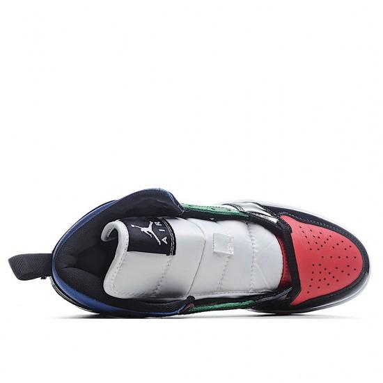 Air Jordan 1 Mid SE Black White Multi-Color DB5454-001 AJ1 Jordan Sneakers