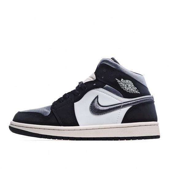Air Jordan 1 Mid Satin Grey Toe 852542-011 AJ1 Jordan Sneakers