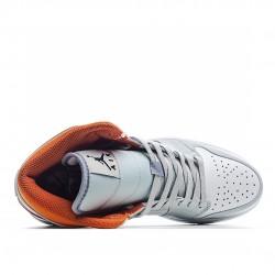 Air Jordan 1 Mid Starfish Pure Platinum CW7591-100 AJ1 Jordan Sneakers