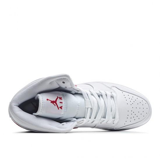 Air Jordan 1 Mid White University Red BQ6472-106 AJ1 Jordan Sneakers