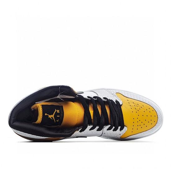 Air Jordan 1 Mid Yellow White Black BQ6472-107 AJ1 Jordan Sneakers