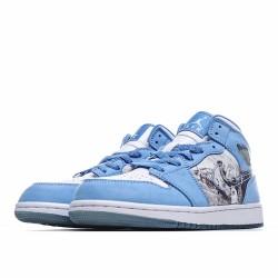 Air Jordan 1 Retro Alpha Blue White 316269-142 AJ1 Jordan Sneakers