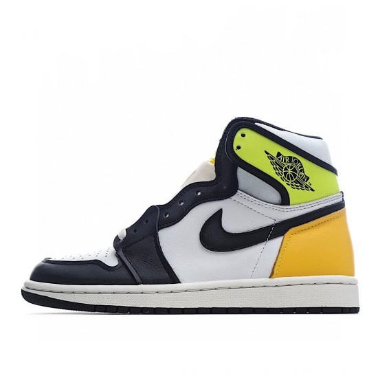Air Jordan 1 Retro Black Yellow White Green 555088-118 AJ1 Jordan Sneakers