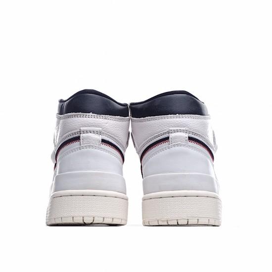Air Jordan 1 Retro High Double Strap White Black Sail AQ7924-101 AJ1 Jordan Sneakers