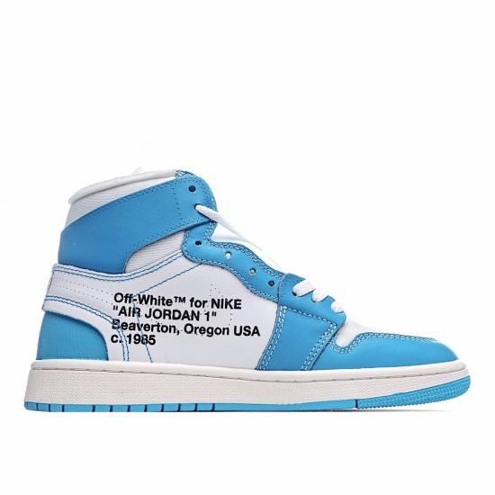 Air Jordan 1 Retro High Off-White University Blue AQ0818-148 AJ1 Jordan Sneakers
