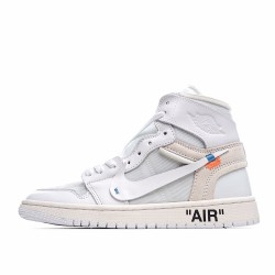 Air Jordan 1 Retro High Off-White White AQ0818-100 AJ1 Jordan Sneakers