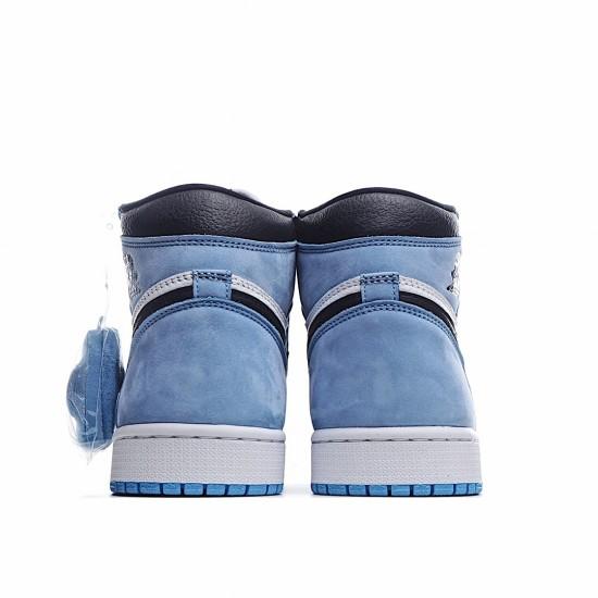 Air Jordan 1 Retro High White University Blue Black 555088-134 AJ1 Jordan Sneakers