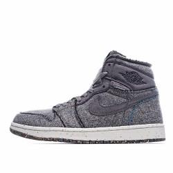 Air Jordan 1 Retro High Zoom Crater Grey CW2414 010 AJ1 Jordan Sneakers