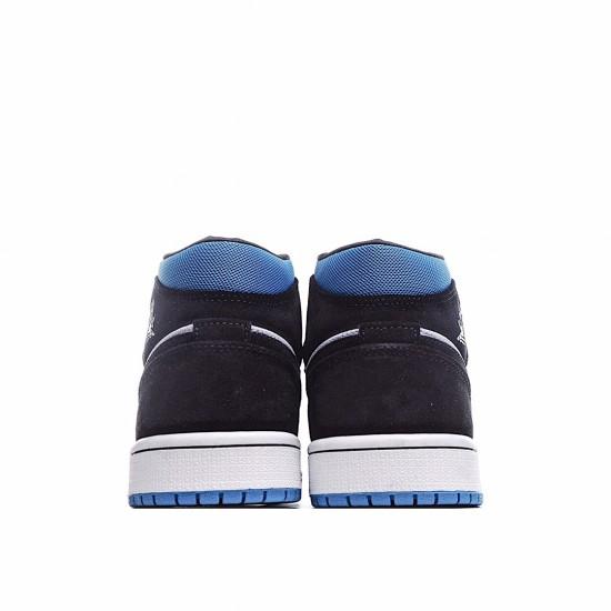 Air Jordan 1 Retro Mid Black Blue White BQ6472-102 AJ1 Jordan Sneakers