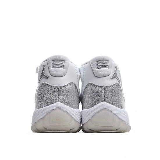 Air Jordan 11 Retro White Metallic Silver AR0715-100 AJ11 Jordan Sneakers