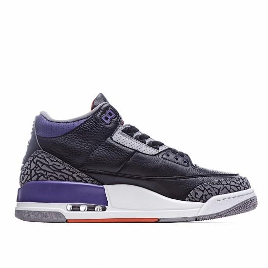 Air Jordan 3 Retro Black Court Purple CT8532-050 AJ3 Jordan Sneakers