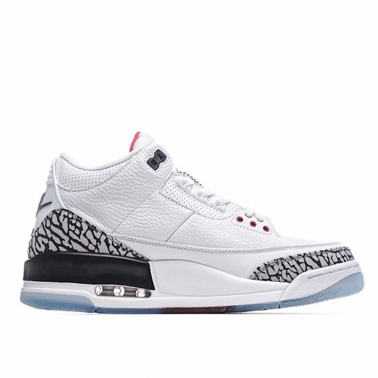 Air Jordan 3 Retro Free Throw Line White Cement 923096-101 AJ3 Jordan Sneakers