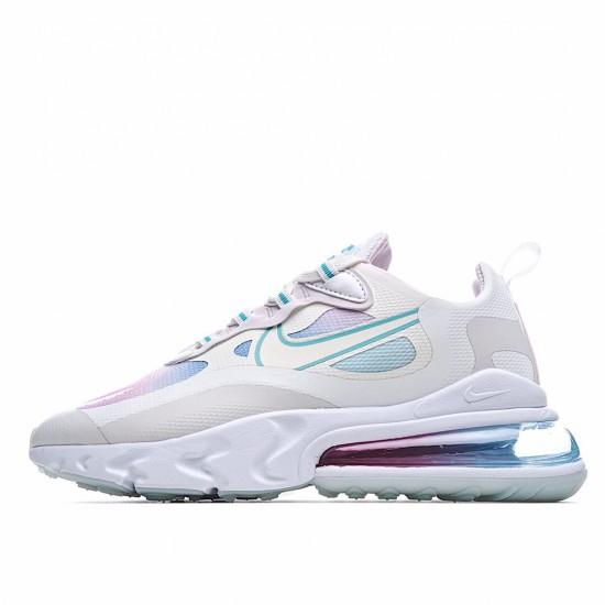 Nike Air Max 270 React Summit White Bleached Aqua CK6929-100 Sneakers