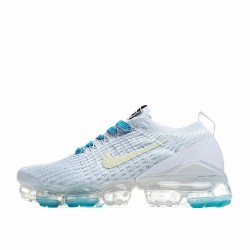 Nike Air VaporMax Flyknit 3 Grey Blue Yellow AJ6900-800 Sneakers