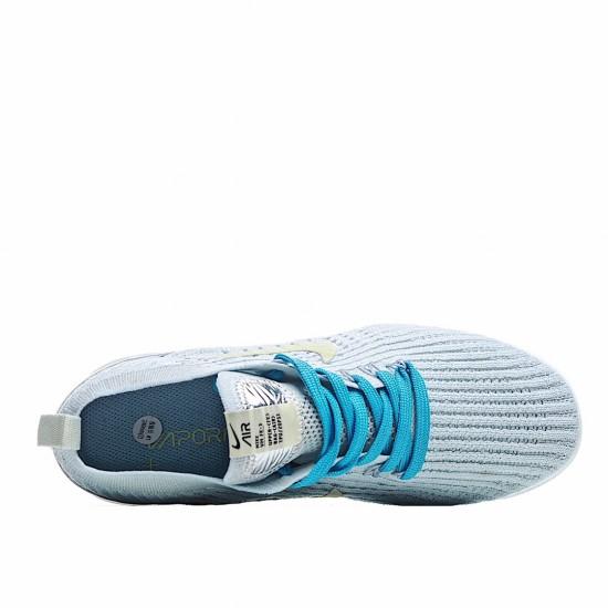 Nike Air VaporMax Flyknit 3 Grey Blue Yellow AJ6900-800 Sneakers