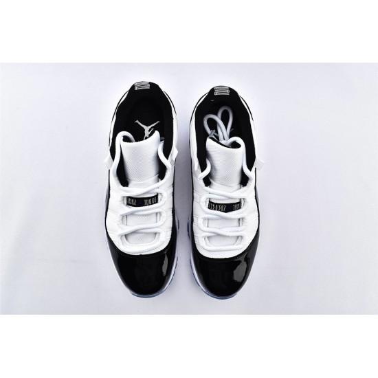 AJ11 Low Nike Air Jordan 11 Black White Mens Basketbll Shoes 528895-153