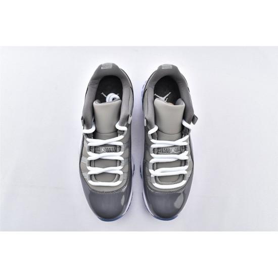 AJ11 Low Nike Air Jordan 11 Gray Mens Basketbll Shoes 528895-003