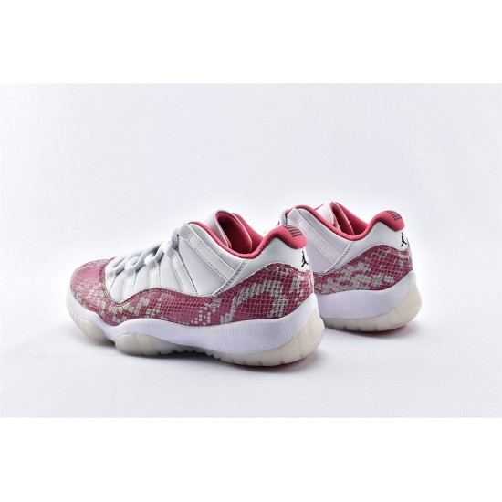 AJ11 Low Nike Air Jordan 11 Pink White Unisex Basketbll Shoes AH7860-106