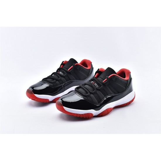 AJ11 Low Nike Air Jordan 11 Red Black White Mens Basketbll Shoes 528895-012