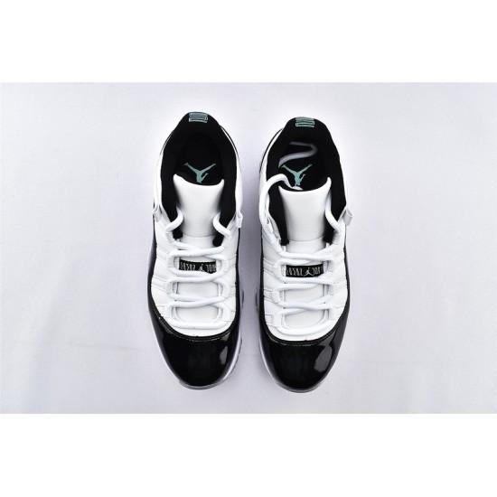 AJ11 Low Nike Air Jordan 11 White Black Mens Basketbll Shoes 528895-145