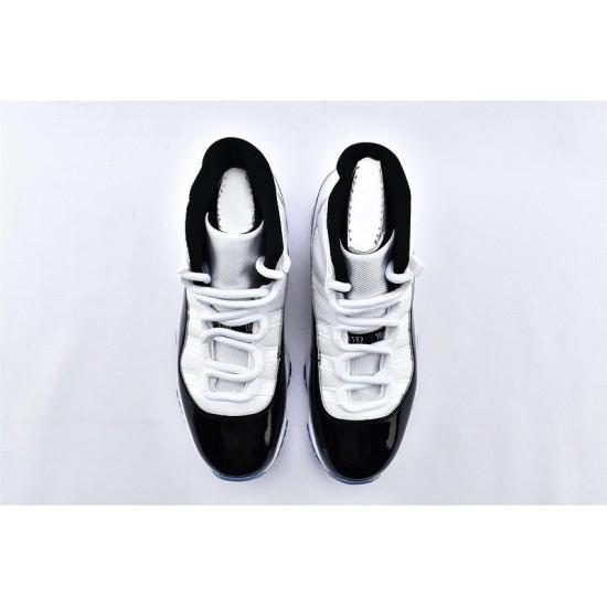 AJ11 Mid Nike Air Jordan 11 Mens Black White Basketbll Shoes 378037-100jpg