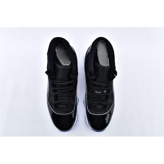 AJ11 Mid Nike Air Jordan 11 Mens Black White Blue Basketbll Shoes 378037-003